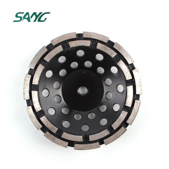diamond cup wheel, grinding block, Double Row metal grinding tool For Stone